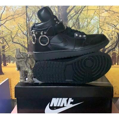 CDG x Air Jordan 1 Black Shoes