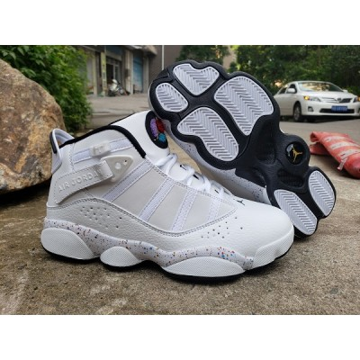 Air Jordan 6 Rings White Grey Shoes