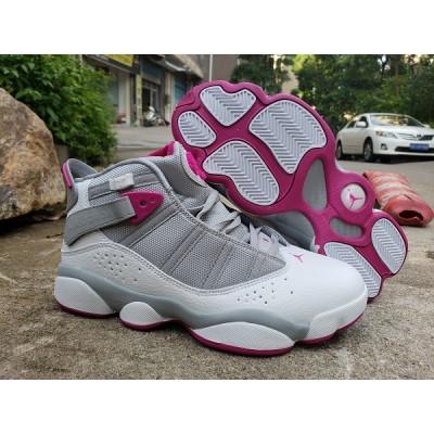 Air Jordan 6 Rings Grey Pink Shoes