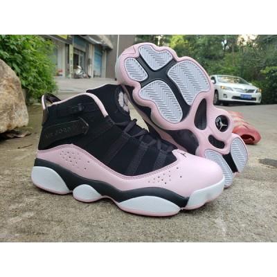 Air Jordan 6 Rings Black Pink Shoes