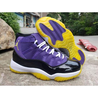 Air Jordan 11 Laker Purple Black Shoes