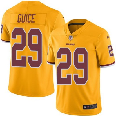 Nike Redskins 29 Derrius Guice Gold Color Rush Limited Youth Jersey
