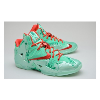 Nike LeBron James 11 Christmas Green Shoes