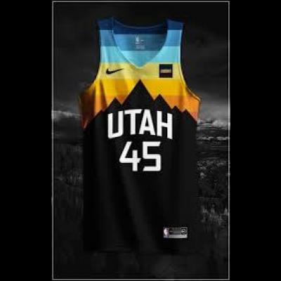 Nike NBA Utah Jazz City Edition Black Men Jersey