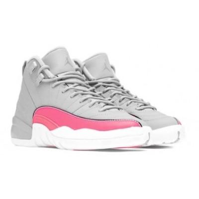 Air Jordan 12 Retro Grey Pink Shoes