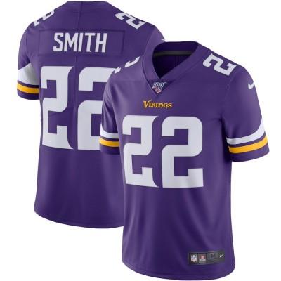 Nike Vikings 22 Harrison Smith Purple 100th Season Vapor Untouchable Limited Men Jersey