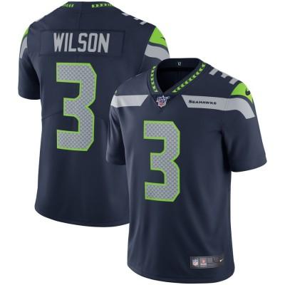 Nike Seahawks 3 Russell Wilson Navy 100th Season Vapor Untouchable Limited Men Jersey
