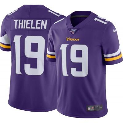 Nike Vikings 19 Adam Thielen Purple 100th Season Vapor Untouchable Limited Men Jersey