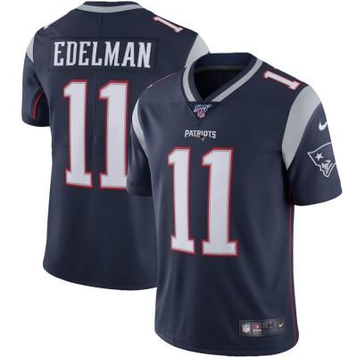 Nike Patriots 11 Julian Edelman Navy 100th Season Vapor Untouchable Limited Men Jersey