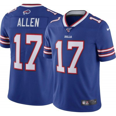Nike Bills 17 Josh Allen Royal 100th Season Vapor Untouchable Limited Men Jersey