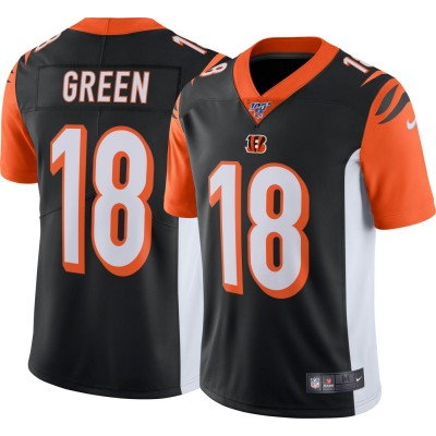Nike Bengals 18 A.J. Green Black 100th Season Vapor Untouchable Limited Men Jersey