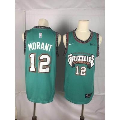 NBA Grizzlies 12 Ja Morant Green Nike Throwback Men Jersey