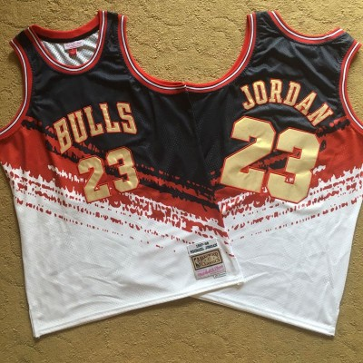 NBA Bulls 23 Michael Jordan Multi Color 1997-98 Hardwood Classics Independent Men Jersey
