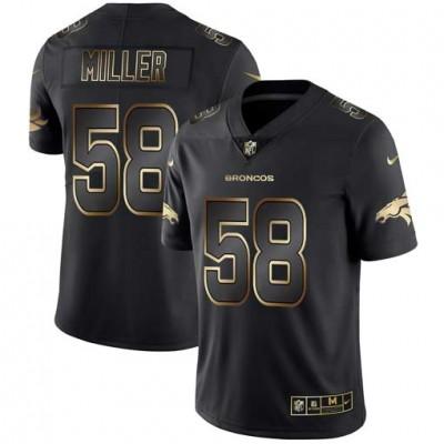 Nike Broncos 58 Von Miller lack Gold Vapor Untouchable Limited Men Jersey
