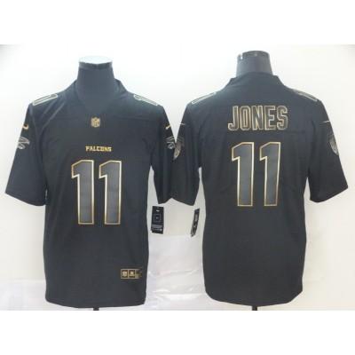 Nike Falcons 11 Julio Jones Black Gold Vapor Untouchable Limited Men Jersey