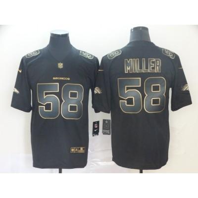 Nike Broncos 58 Von Miller Black Gold Vapor Untouchable Limited Men Jersey