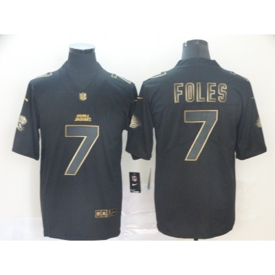 Nike Jaguars 7 Nick Foles Black Gold Vapor Untouchable Limited Men Jersey