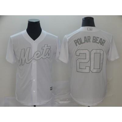 MLB Mets 20 Pete Alonso Polar Bear White 2019 Players Weekend Player Men Jersey