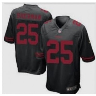 Nike San Francisco 49ers 25 Richard Sherman Scarlet Black Youth Jersey