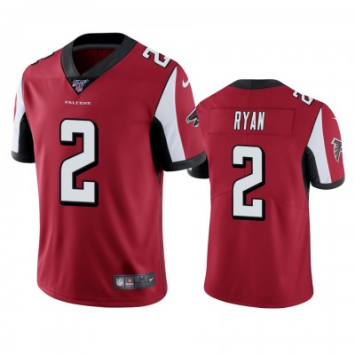 NFL Atlanta Falcons 2 Matt Ryan Red  100th Season Vapor Untouchable Limited  Men Jersey
