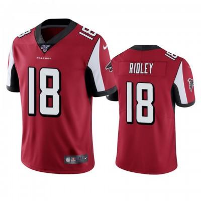 NFL Atlanta Falcons 18 Calvin Ridley Red  100th Season Vapor Untouchable Limited  Men Jersey