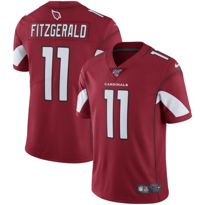 NFL Arizona Cardinals 11 Larry Fitzgerald Red  100th Season Vapor Untouchable Limited  Men Jersey