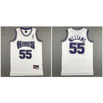 NBA Kings 55 Jason Williams White Nike Swingman Men Jersey