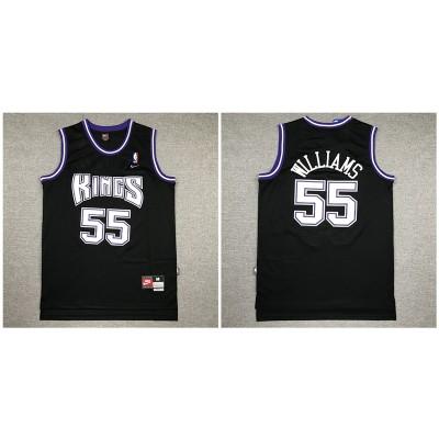NBA Kings 55 Jason Williams Black Nike Swingman Men Jersey