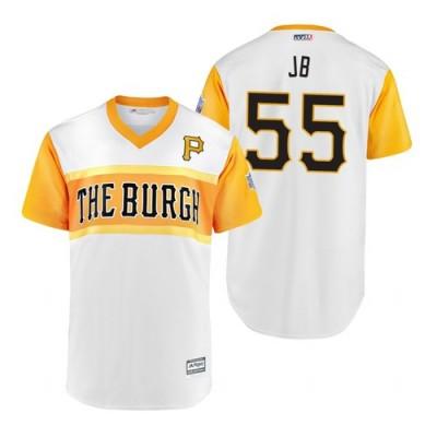 MLB Pittsburgh Pirates 55 Josh Bell JB 2019 Little League Classic Men Jersey