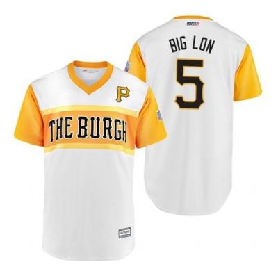 MLB Pittsburgh Pirates 5 Lonnie Chisenhall Big Lon 2019 Little League Classic Men Jersey