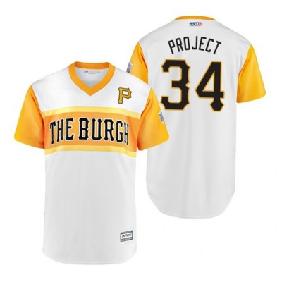 MLB Pittsburgh Pirates 34 Trevor Williams Project 2019 Little League Classic Men Jersey