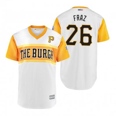 MLB Pittsburgh Pirates 26 Adam Frazier Fraz 2019 Little League Classic Men Jersey