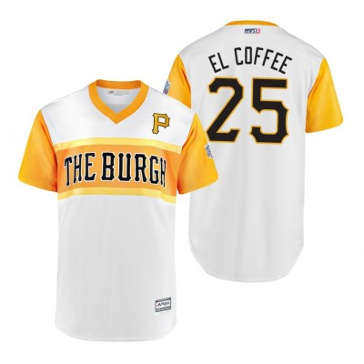 MLB Pittsburgh Pirates 25 Gregory Polanco El Coffee 2019 Little League Classic Men Jersey