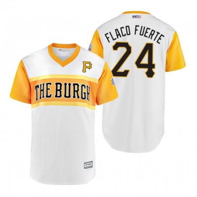MLB Pittsburgh Pirates 24 Chris Archer Flaco Fuerte 2019 Little League Classic Men Jersey