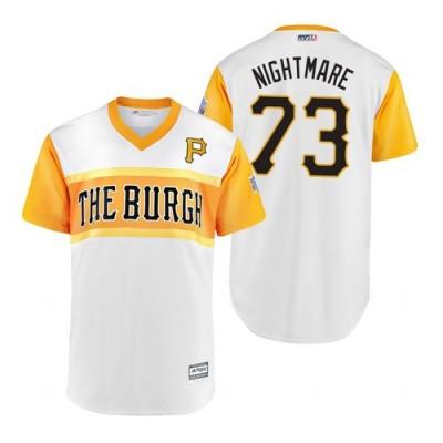 MLB Pittsburgh 73  Pirates Felipe Vazquez Nightmare 2019 Little League Classic Men Jersey