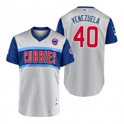 MLB Chicago Cubs 40 Willson Contreras Venezuela 2019 Little League Classic Men Jersey