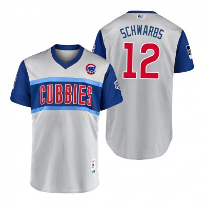 MLB Chicago Cubs 12 Kyle Schwarber Schwarbs 2019 Little League Classic Men Jersey