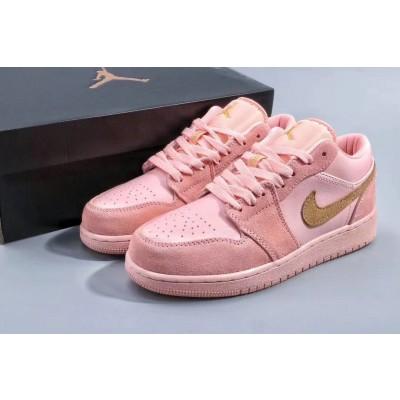 Air Jordan 1 Pink Women Shoes