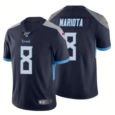 NFL Tennessee Titans 8 Marcus Mariota Navy  100th Season Vapor Untouchable Limited  Men Jersey