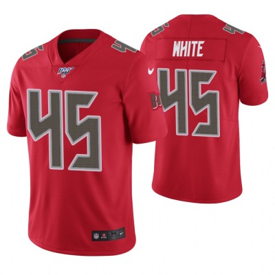 NFL Tampa Bay Buccaneers 45 Devin White Red  100th Season Color Rush Limited  Men Jersey