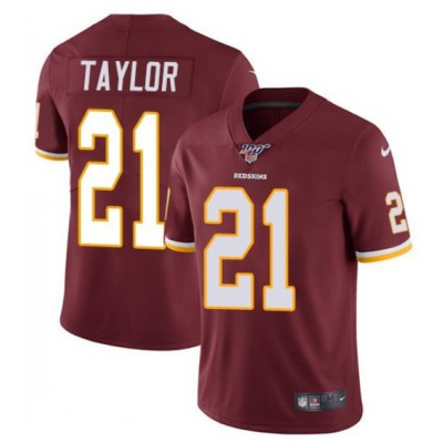 NFL Redskins 100th 21 Sean Taylor Red Vapor Untouchable Limited  Men Jersey