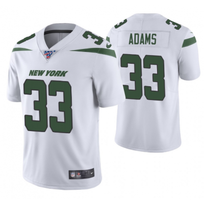 NFL New York Jets 33 Jamal Adams White 100th Season Vapor Untouchable Limited Men Jersey