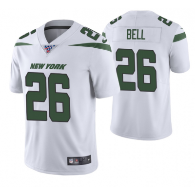 NFL New York Jets 26 Le'Veon Bell White 100th Season Vapor Untouchable Limited Men Jersey