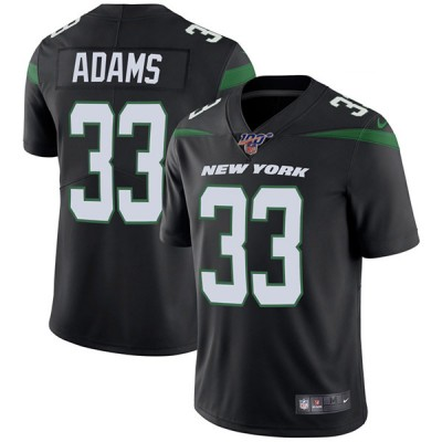 NFL New York Jets 100th 33 Jamal Adams Black Vapor Untouchable Limited Men Jersey
