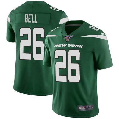NFL New York Jets 100th 26 Le'Veon Bell Green Vapor Untouchable Limited  Men Jersey