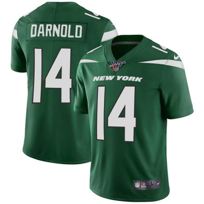 NFL New York Jets 100th 14 Sam Darnold Green Vapor Untouchable Limited Men Jersey