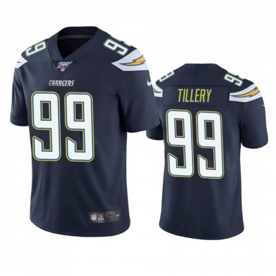 NFL Los Angeles Chargers 99 Jerry Tillery Navy  100th Season Vapor Untouchable Limited  Men Jersey