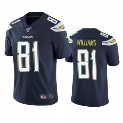 NFL Los Angeles Chargers 81 Mike Williams Navy  100th Season Vapor Untouchable Limited  Men Jersey