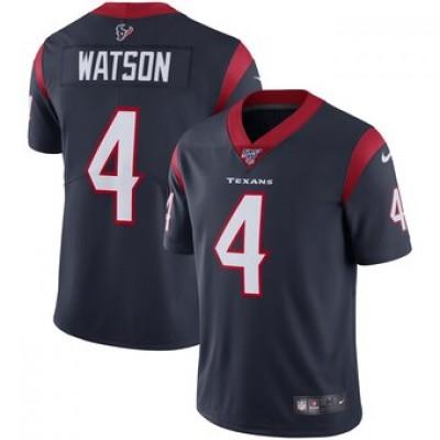 NFL Houston Texans 4 Deshaun Watson Navy 100th Season Vapor Untouchable Limited Men Jersey