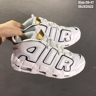 Nike Air More Uptempo White Navy Shoes